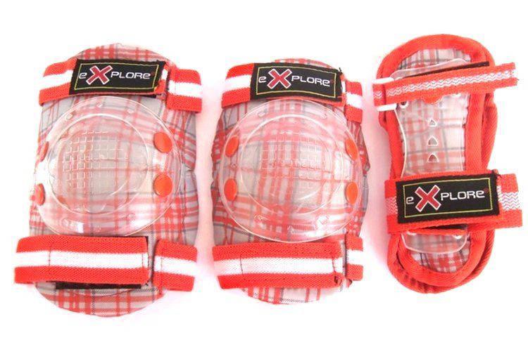 Защита для роликов детская Explore Cooper размер XS красная