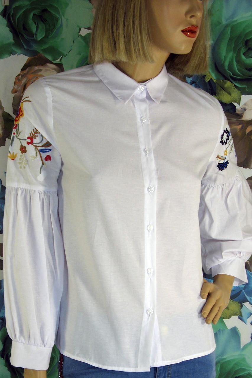 1310b4d1017c70 Жіноча біла сорочка з вишивкою Reyon - магазин ШАЛЕНА МОДА Львів  вул.Наукова 64 в