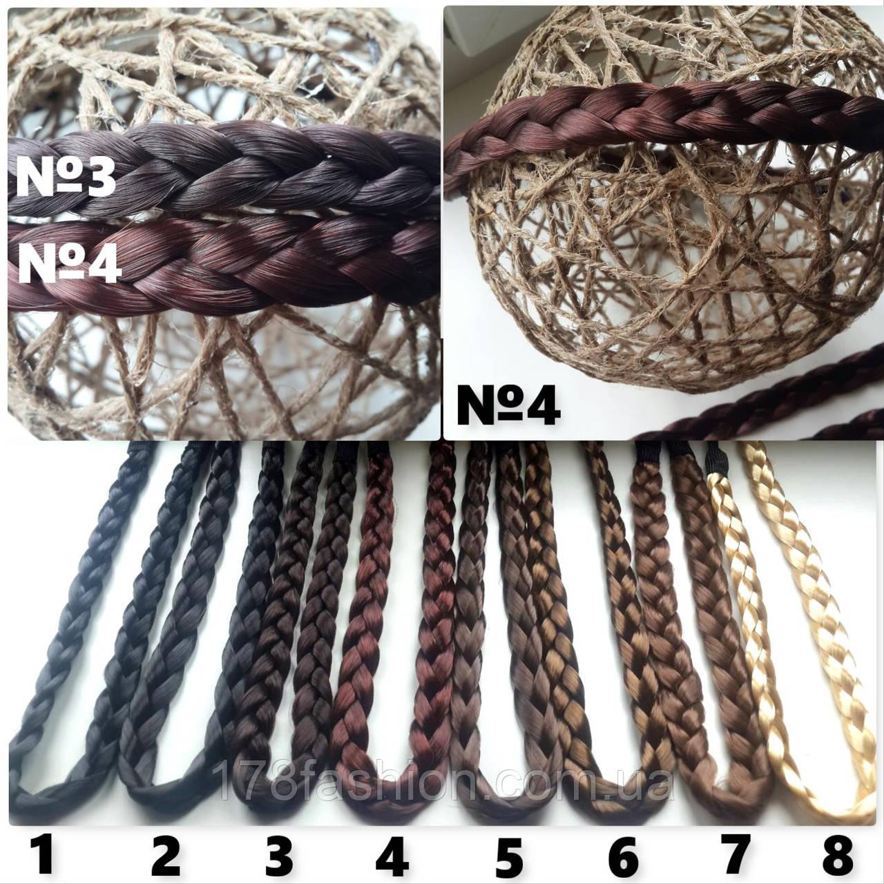 Повязка-ободок косичка из искусственных волос для греческой прически №4