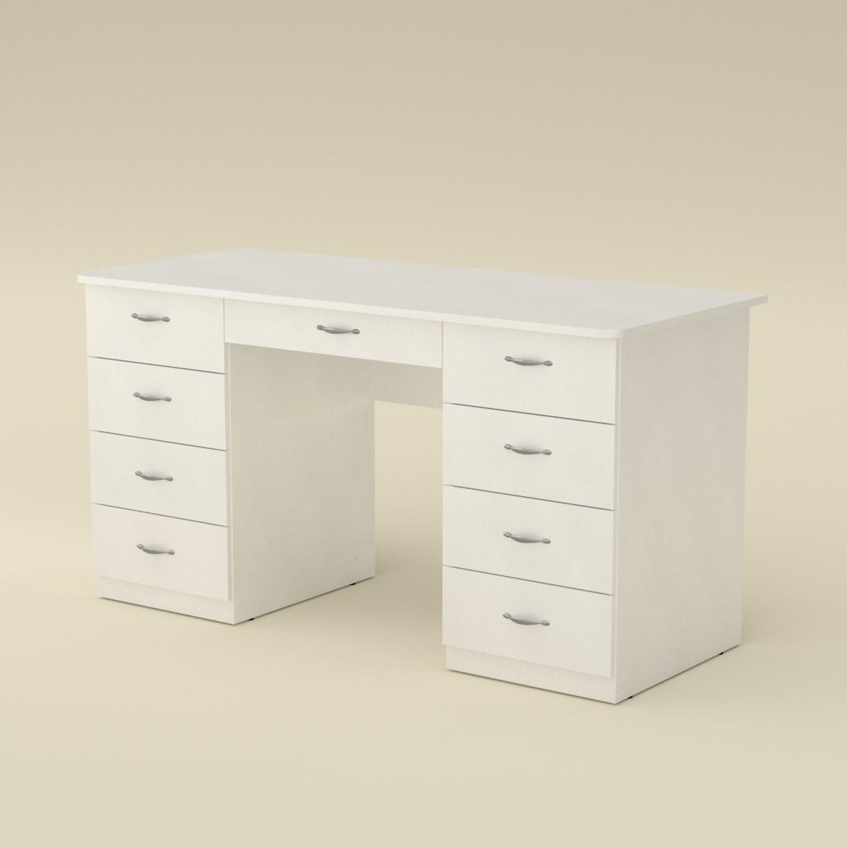 Стол письменный учитель-3 нимфея альба (белый) Компанит (140х60х74 см)