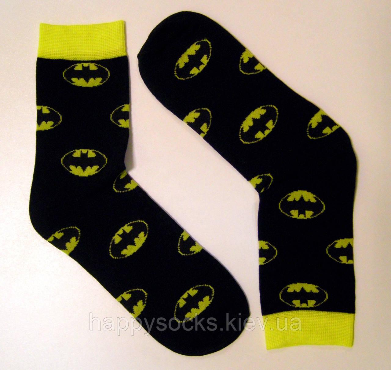 Цветные высокие мужские носки бэтмен черного цвета
