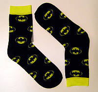 Цветные высокие мужские носки бэтмен черного цвета, фото 1