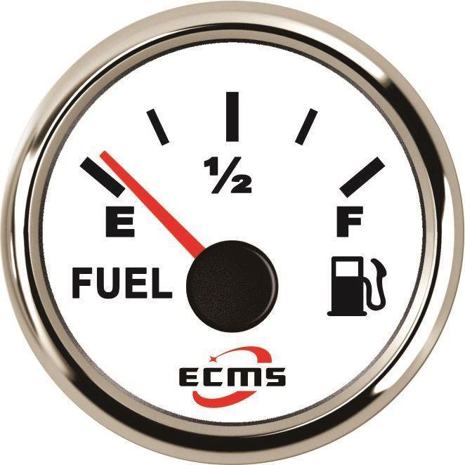 Указатель уровня топлива ECMS PMF2-WS-240-33 белый 52мм