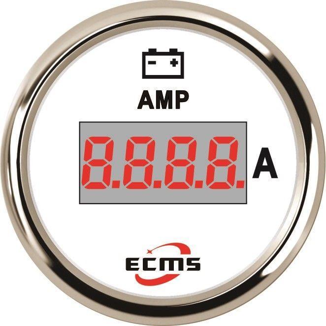 Амперметр цифровой ECMS PEA-WS±150A диаметр 52мм белый