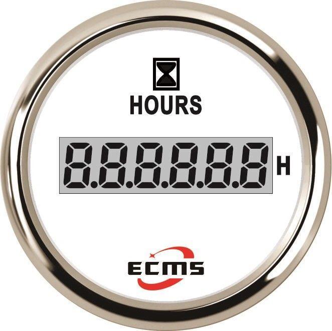 Счетчик моточасов цифровой ECMS PLH2-WS-HS не импульсный белый