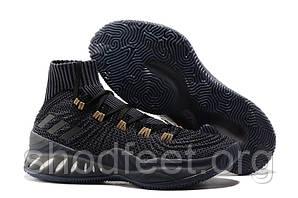 Мужские баскетбольные кроссовки Adidas Crazy Explosive 2017 Black Grey
