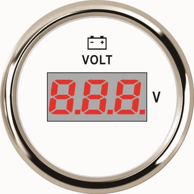 Вольтметр ECMS CMV2-WS-8-16 52мм белый