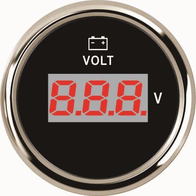 Вольтметр ECMS CMV2-BS-8-16  52мм черный