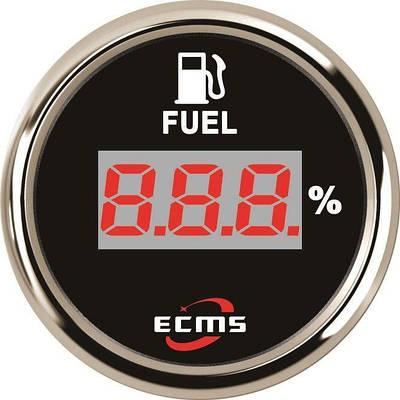 Указатель уровня топлива цифровой ECMS CEF2-BS-240-33  52мм черный