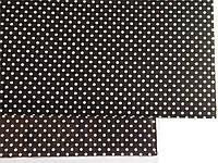 Ткань на клеевой основе 20*30 см черная в горошек
