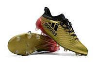 Футбольные бутсы adidas X 17.1 FG Gold Metallic/Core Black/Solar Red, фото 1