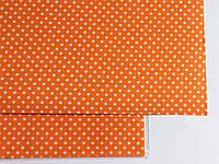 Ткань на клеевой основе 20*30 см оранжевая в горошек