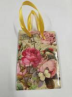 Пакет бумажный подарочный  МИНИ 8*12*3.5 арт42 (12 шт)