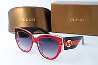 Солнцезащитные очки Gucci красные, фото 1