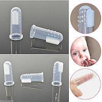 Перша силіконова щітка на пальчик - прорізувач для Немовлят.