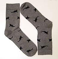 Мужские высокие носки с рисунком акулы, фото 1