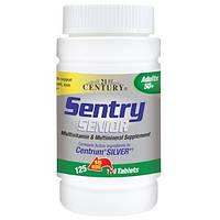 21st Century, Sentry Senior, мультивитаминная и мультиминеральная добавка, для взрослых старше 50 лет, 125 таб