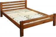 Кровать Ласточка двухспальная орех светлый