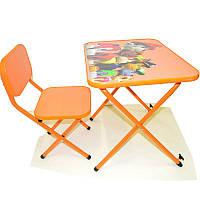 Парта Ommi Патруль со стульчиком Оранжевая