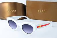 Солнцезащитные очки Gucci белые, фото 1