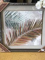Картина об'ємна 3D Лист папороті, Декор стін