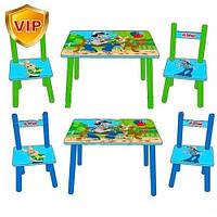 Деревянный столик со стульчиками Ну погоди! M 1433