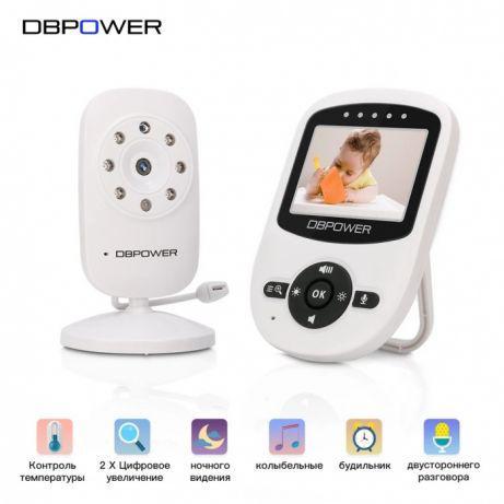 Видеоняня Baby Monitor Dbpower с режимом ночного видения и двусторонней связью дисплей 2.4 дюйма