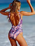 Сдельный купальник Victoria's Secret на завязках пастельный, фото 2