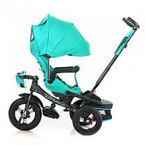Трехколесный велосипед Baby Tilly Cayman с пультом бирюзовый Т-381, фото 3
