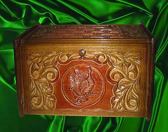 Хлебница резная подарочная, фото 2
