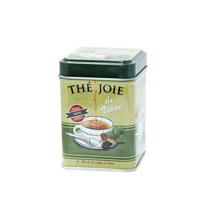 Маленькая жестяная банка для чая Прекрасная жизнь, 25г ( контейнер для сыпучих ), фото 2