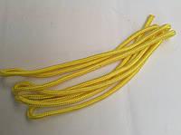 Скакалка гимнастическая, цветная ткань,длина 3метра желтая, фото 1