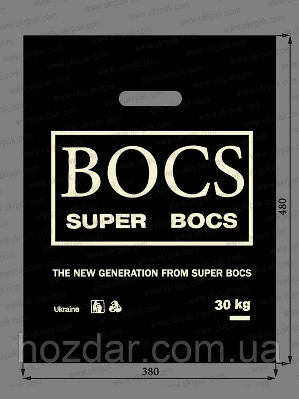 """Пакеты полиэтиленовые типа банан """"BOCS"""" 38х48 100шт."""