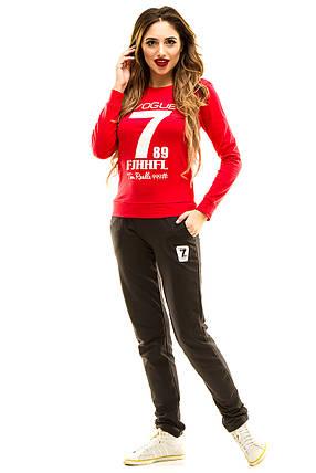 Спортивный костюм 401 малина, фото 2