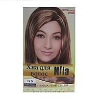 Хна для волос Nila золотисто-коричневая 60 гр