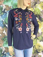 Жіноча  сорочка вишита квітами Saloon, фото 2