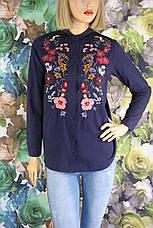Жіноча  сорочка вишита квітами Saloon, фото 3