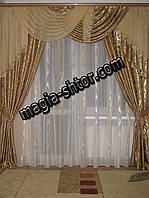 Ламбрекен со шторами для спальни