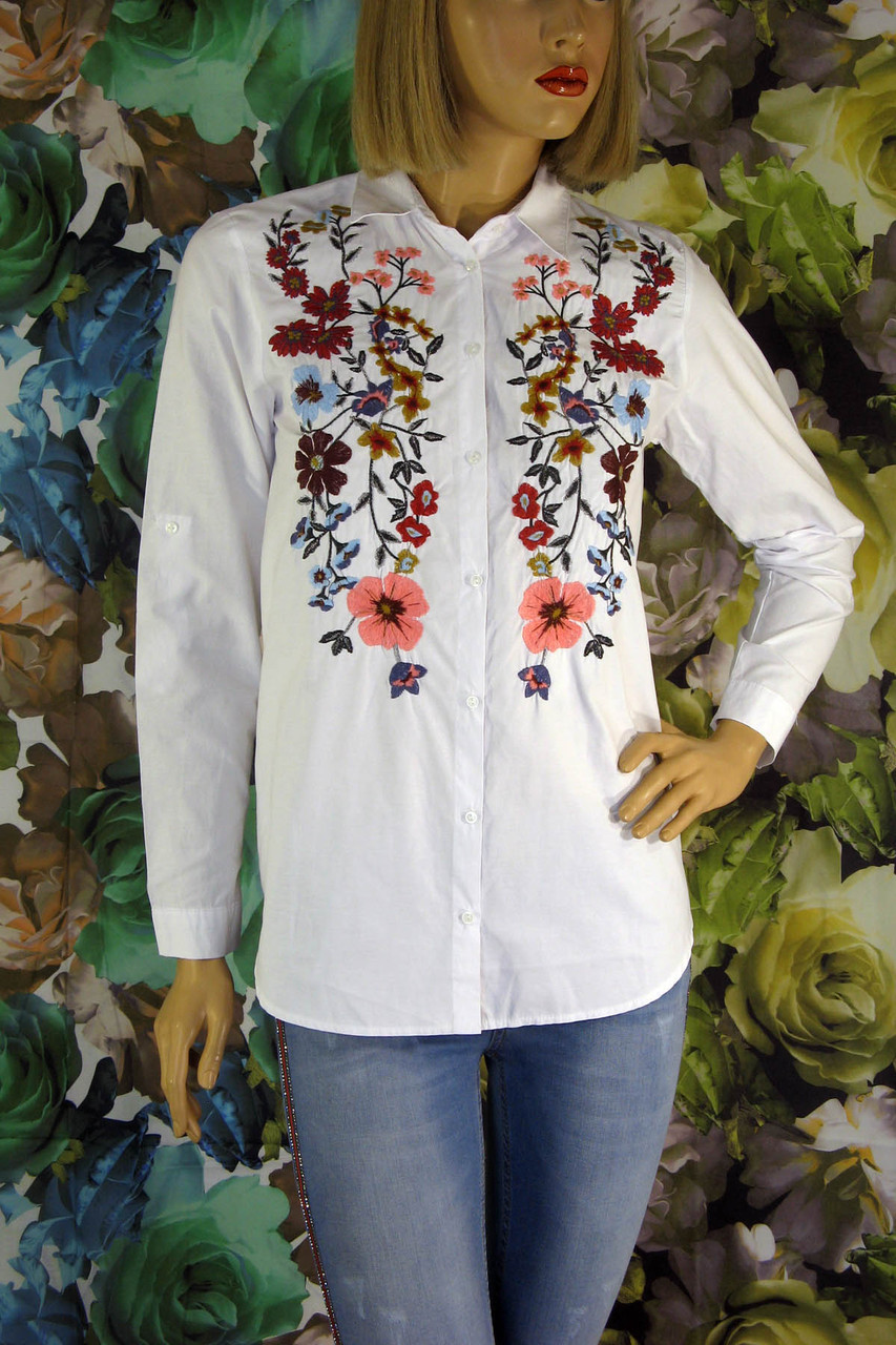 Жіноча сорочка вишита квітами Saloon 465af5c669a0e