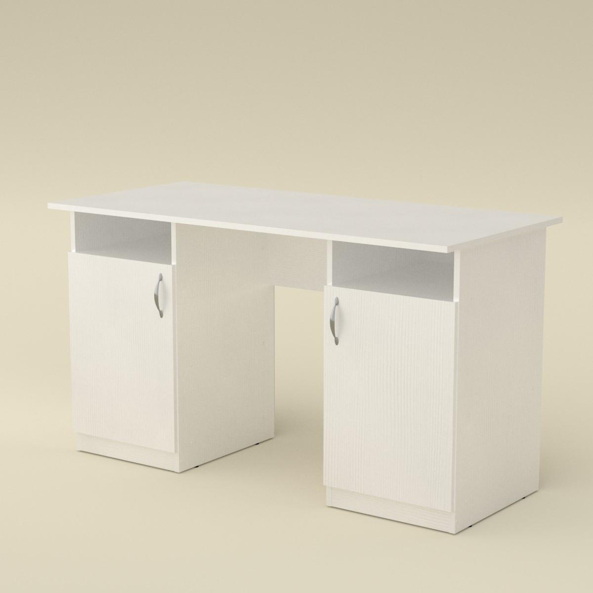 Стол письменный учитель (кромка АБС - 2 мм) нимфея альба (белый) Компанит