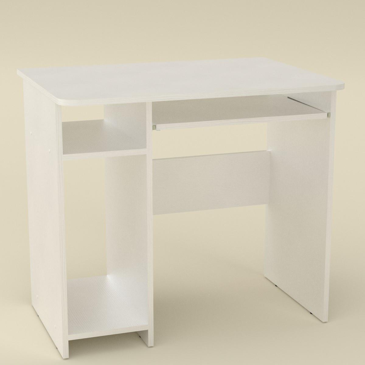 Стол компьютерный СКМ-12 нимфея альба (белый) Компанит (82х60х74 см)