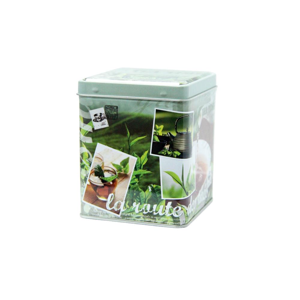 Железная банка для чая и кофе Путь к чаю, 100г ( контейнер для сыпучих )