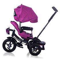 Трехколесный велосипед Baby Tilly Cayman с пультом фиолетовый Т-381, фото 3