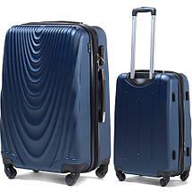 Надежный чемодан поликарбонат средний с расширителем 70 л синий WS403-92, фото 3