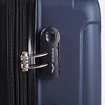 Надежный чемодан поликарбонат средний с расширителем 70 л синий WS403-92, фото 2
