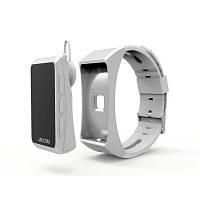 Смарт часы Bluetooth гарнитура JAKCOMBER B3 8в1 (БЕЛЫЕ) Стильно смотрятся, превращается в блютуз гарнитуру