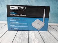Маршрутизатор TotoLink mini на 1 антенну
