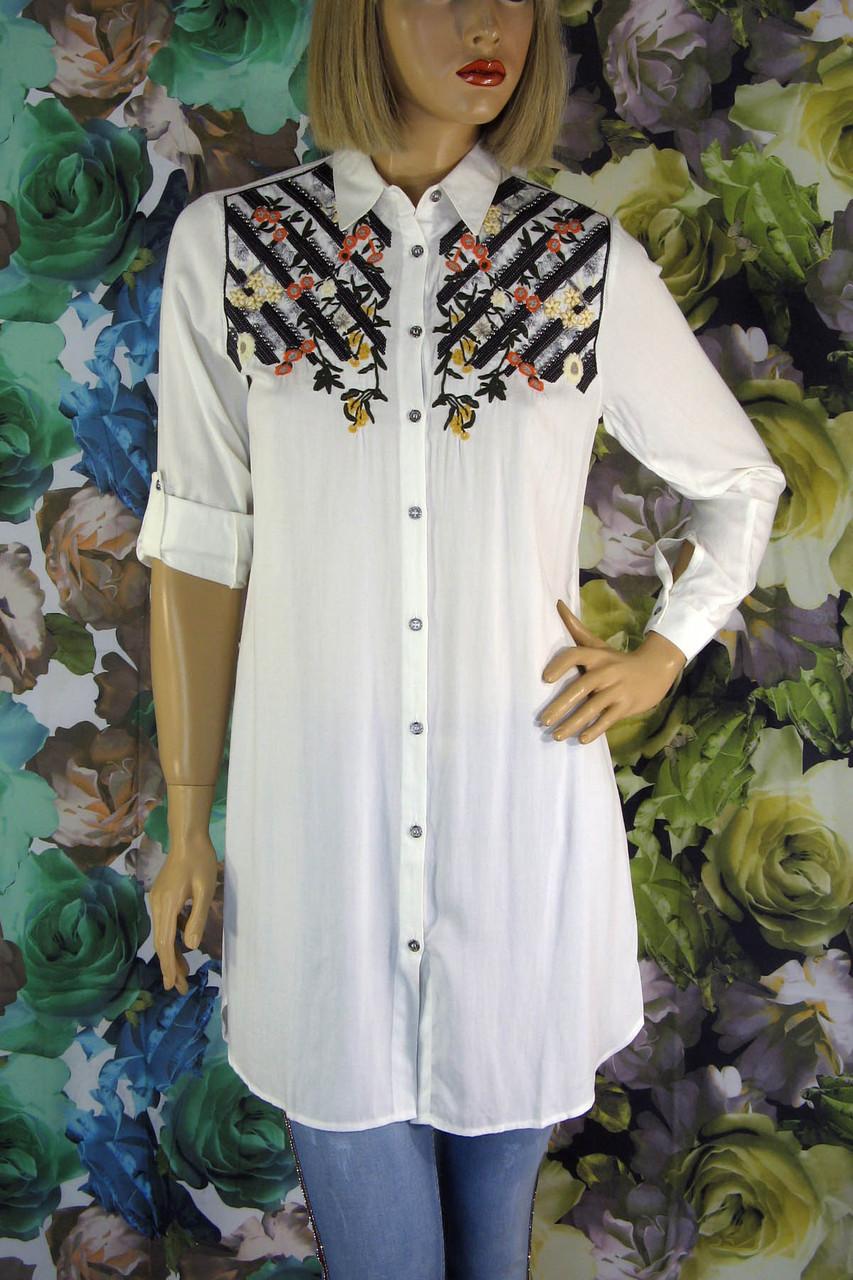 Жіноча  сорочка туніка з  вишивкою Saloon
