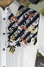 Жіноча  сорочка туніка з  вишивкою Saloon, фото 3