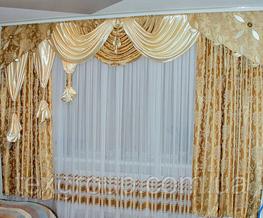Ламбрекен со шторами Нателла 3м, фото 2